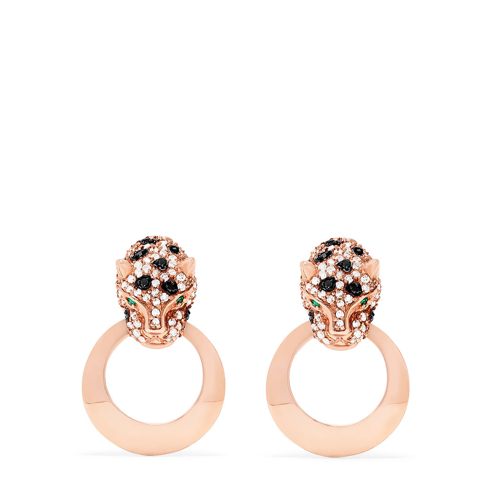 Effy Signature 14K Rose Gold Diamond and Emerald Earrings, 0.81 TCW
