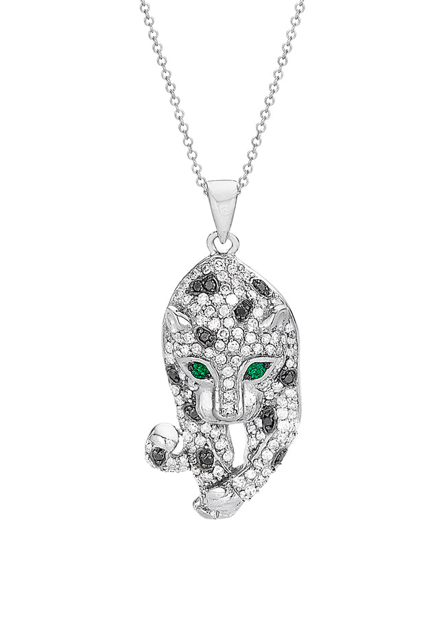 Effy Signature 14K White Gold Diamond & Emerald Pendant, 0.79 TCW