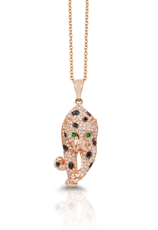 Effy Signature 14K Rose Gold Diamond & Emerald Pendant, 0.79 TCW