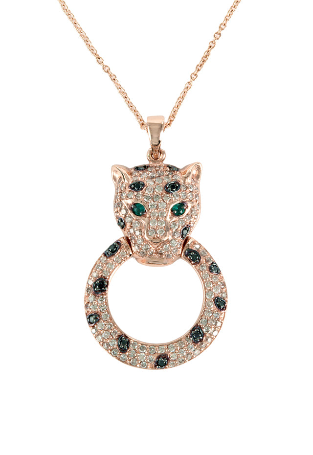 Effy Signature 14K Rose Gold Diamond and Emerald Pendant, 0.79 TCW