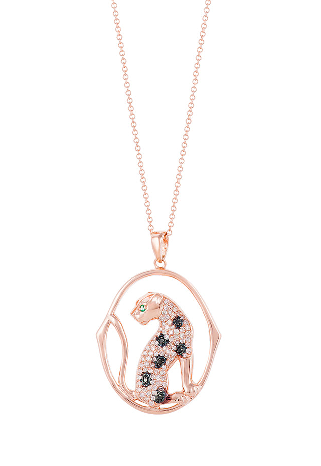 Effy Signature 14K Rose Gold Diamond and Emerald Pendant, 0.44 TCW