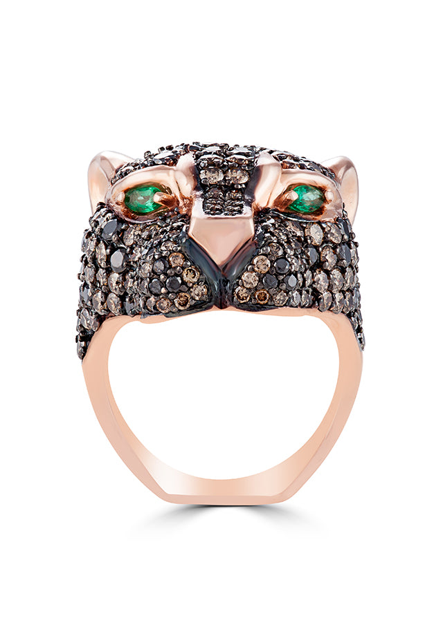 Effy Signature 14K Rose Gold Diamond and Emerald Ring, 4.89 TCW