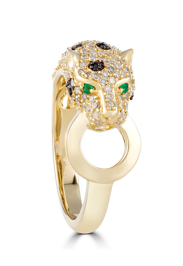 Effy Signature 14K Yellow Gold Diamond and Emerald Ring, 0.67 TCW