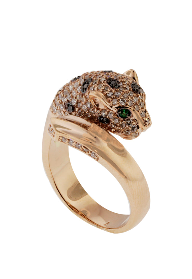 Signature Rose Gold Diamond & Emerald Ring, .75 TCW