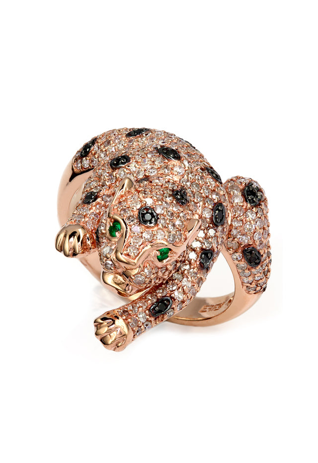 Effy Signature 14K Rose Gold Diamond and Emerald Ring, 1.39 TCW