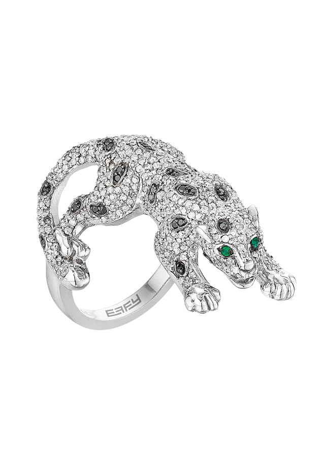 Signature White Gold Diamond and Emerald Ring, 1.52 TCW