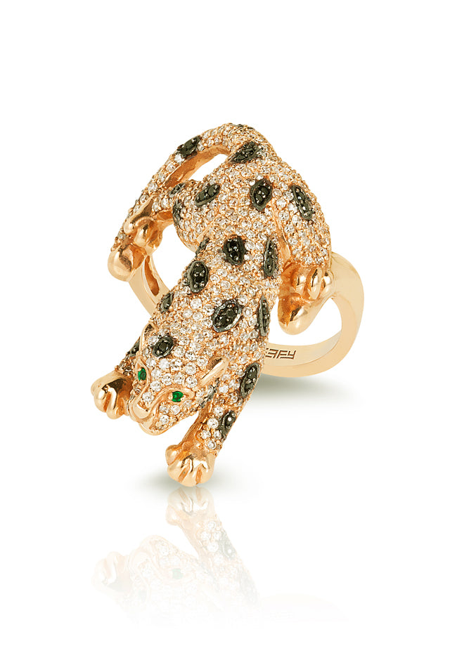 Signature Yellow Gold Diamond & Emerald Ring, 1.52 TCW