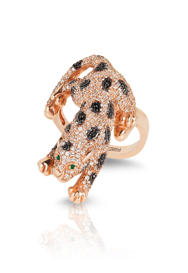 Effy Signature 14K Rose Gold Diamond and Emerald Ring, 1.52 TCW