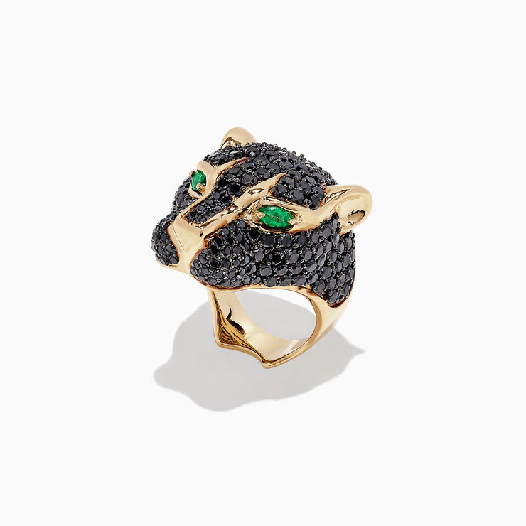 Effy Collector's Edition 14K Yellow Gold Black Diamond Ring, 4.89 TCW