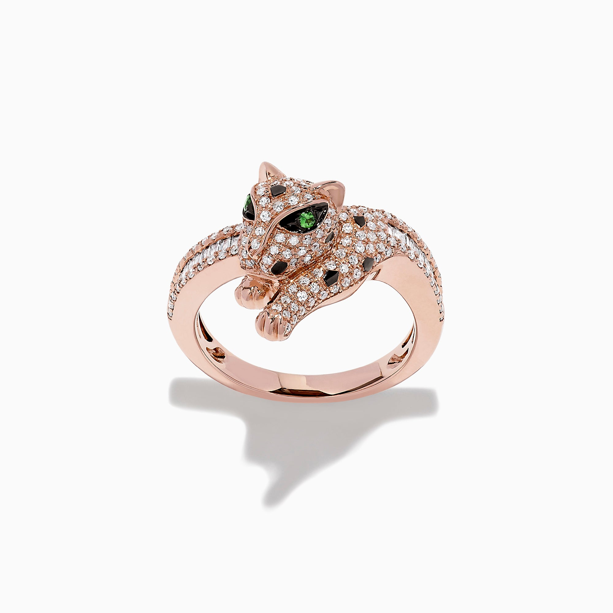 Effy Signature 14K Rose Gold Diamond and Tsavorite Ring, 0.72 TCW