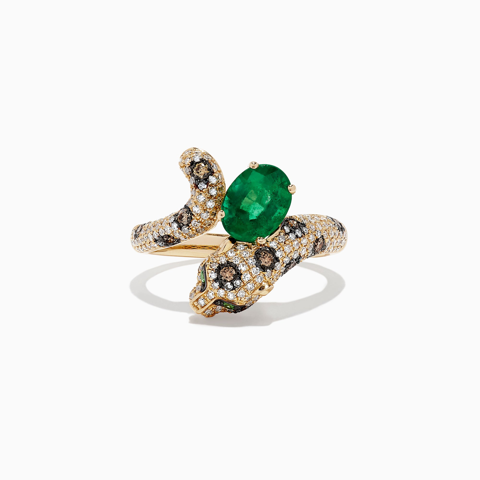 Effy Signature 14K Yellow Gold Diamond and Emerald Ring, 1.94 TCW