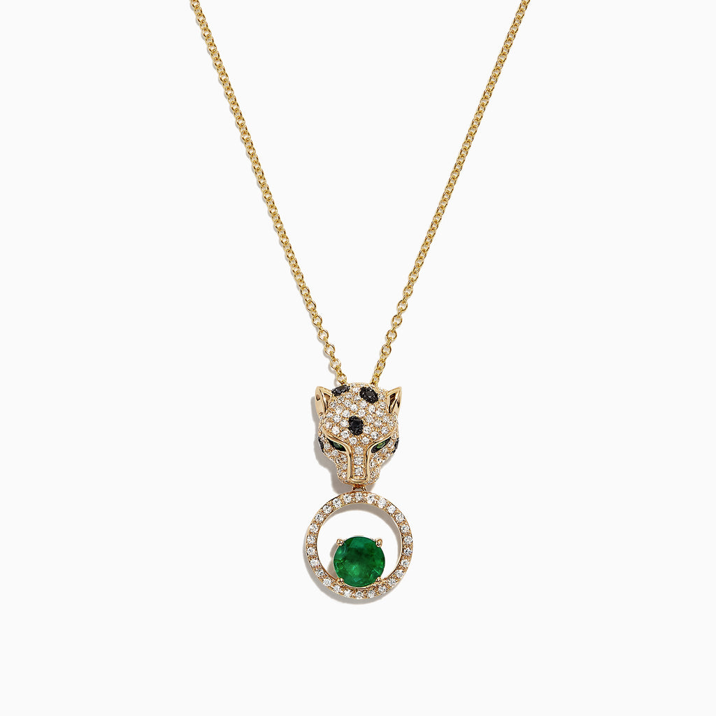 Effy Signature 14K Yellow Gold Emerald & Diamond Pendant, 1.32 TCW