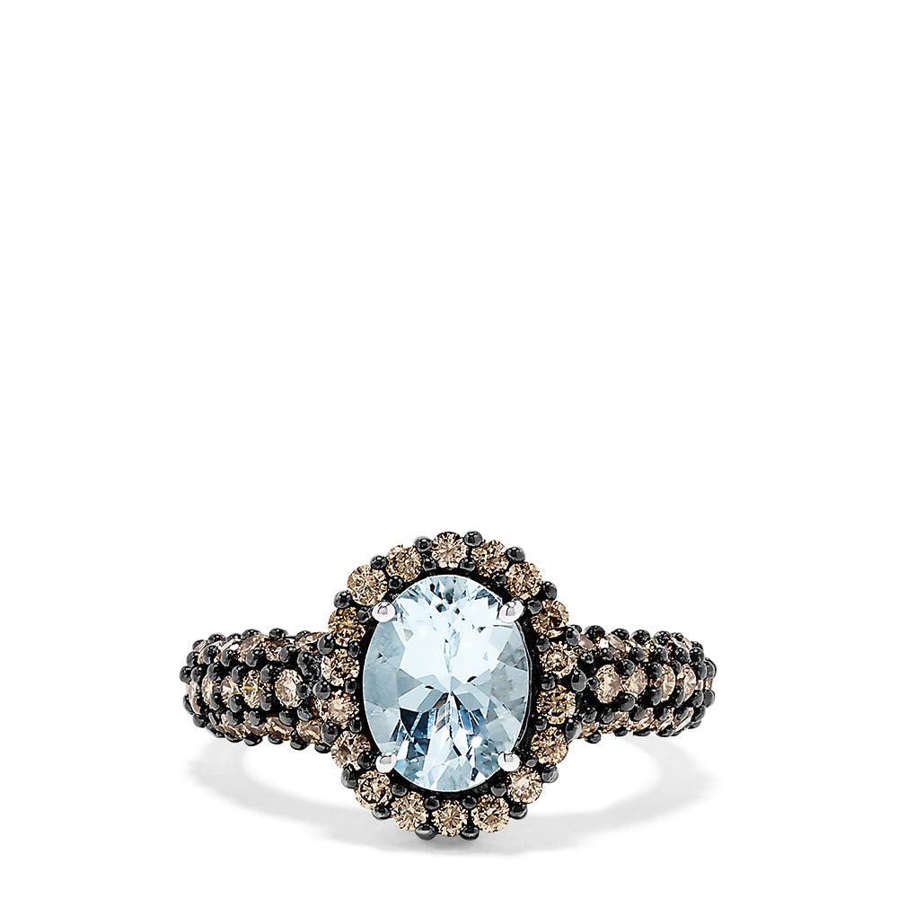 Effy 14K White Gold Aquamarine and Diamond Ring, 2.66 TCW