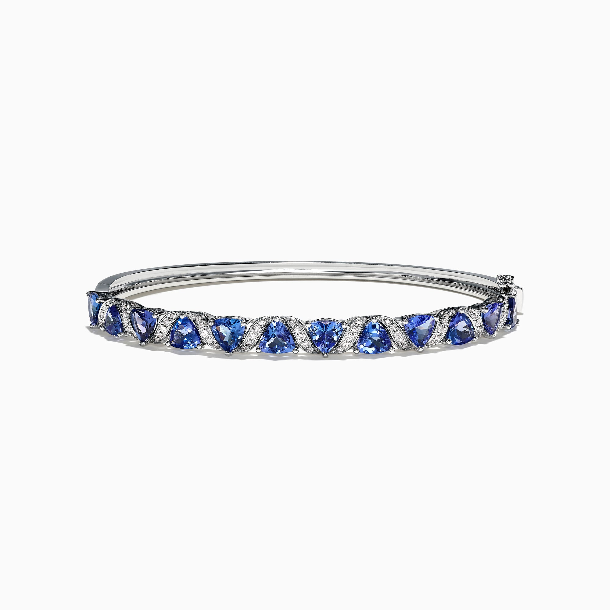 Effy Tanzanite Royale 14K White Gold Tanzanite Diamond Bangle, 4.76 TCW