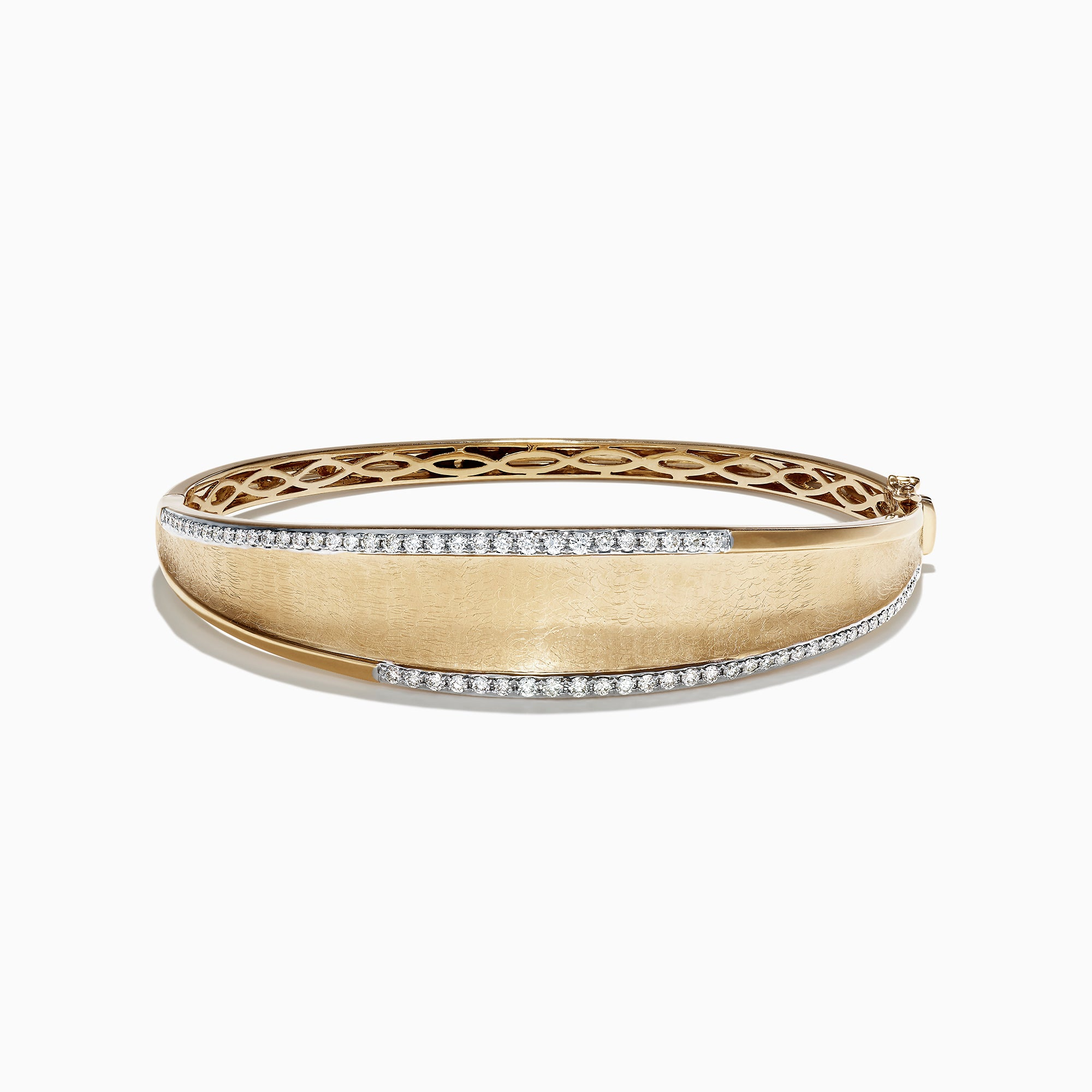 Effy D'Oro 14K Yellow Gold Diamond Bangle, 0.77 TCW