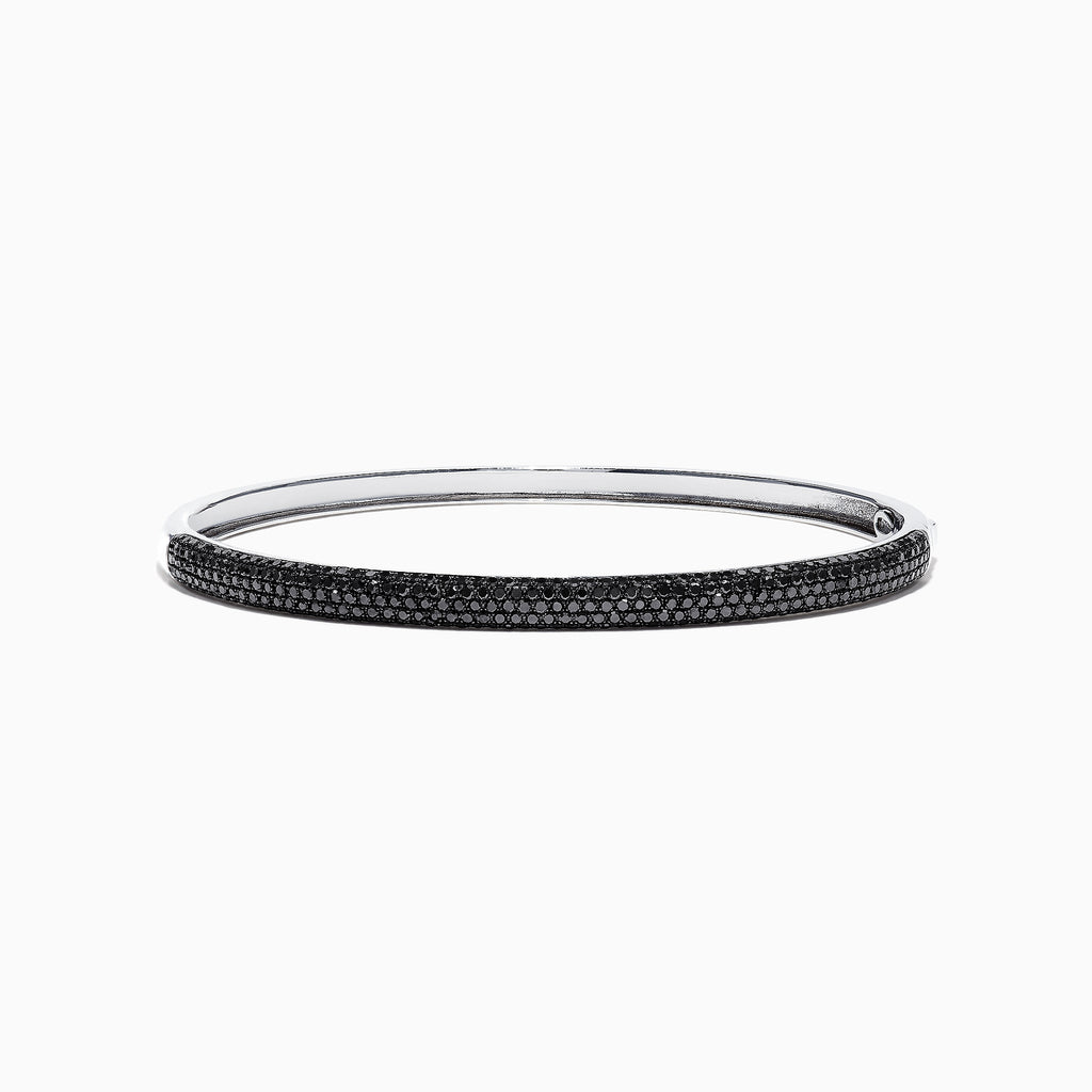 Effy 14K White Gold Black Diamond Bangle, 1.90 TCW