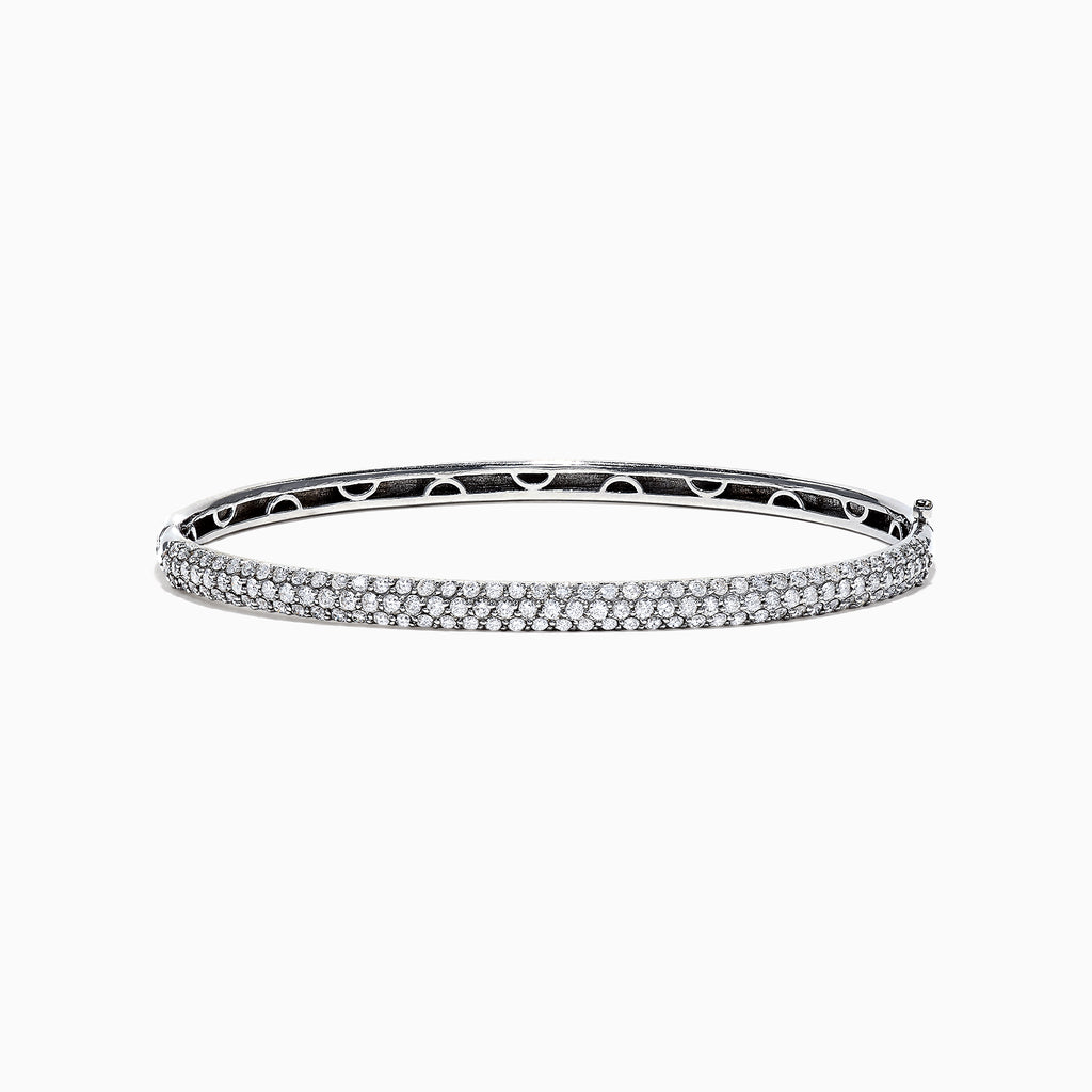 Effy Pave Classica 14K White Gold Diamond Bangle, 1.47 TCW