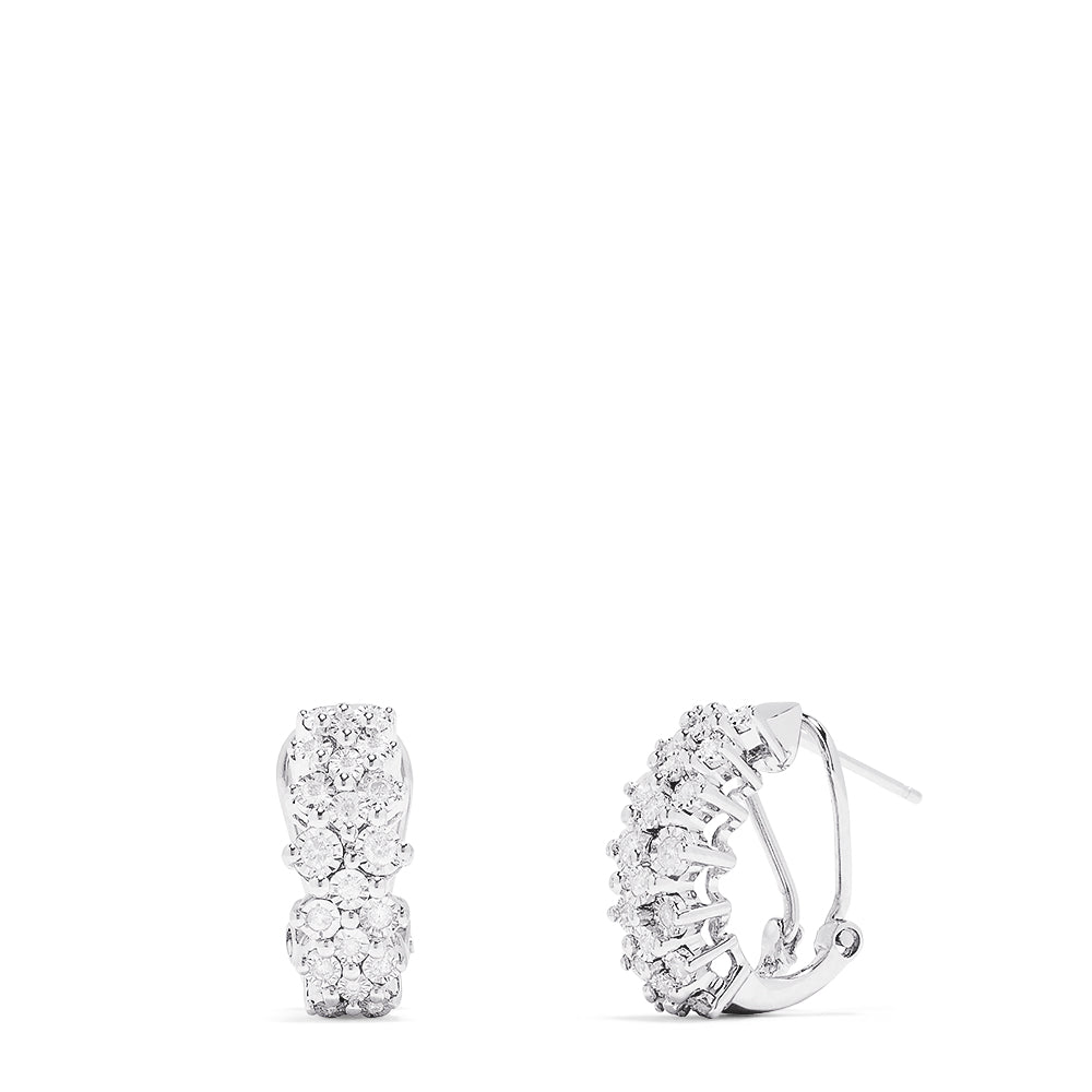 Effy 925 Sterling Silver Diamond Earrings, 0.33 TCW