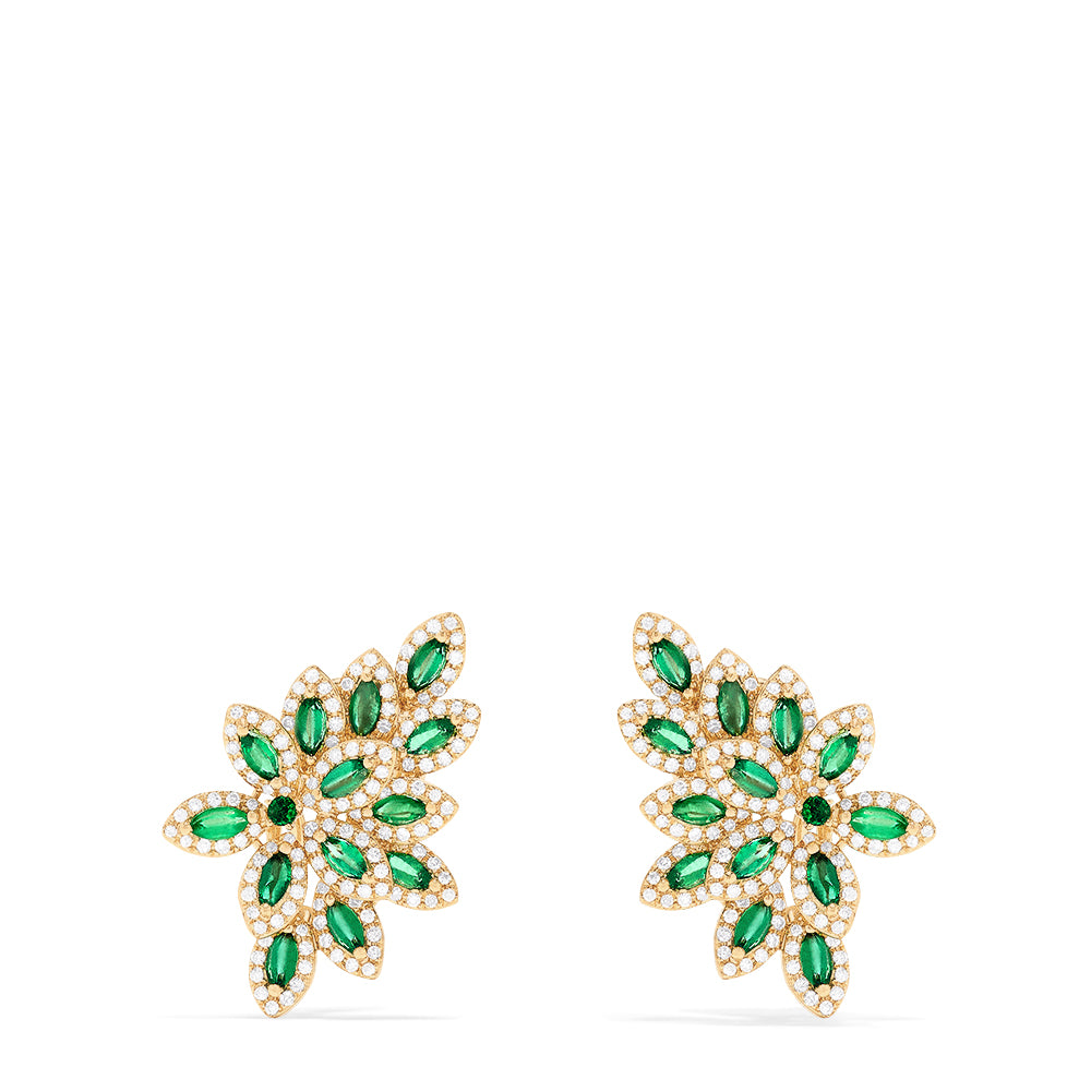 Effy Brasilica 14K Yellow Gold Emerald and Diamond Earrings, 2.95 TCW