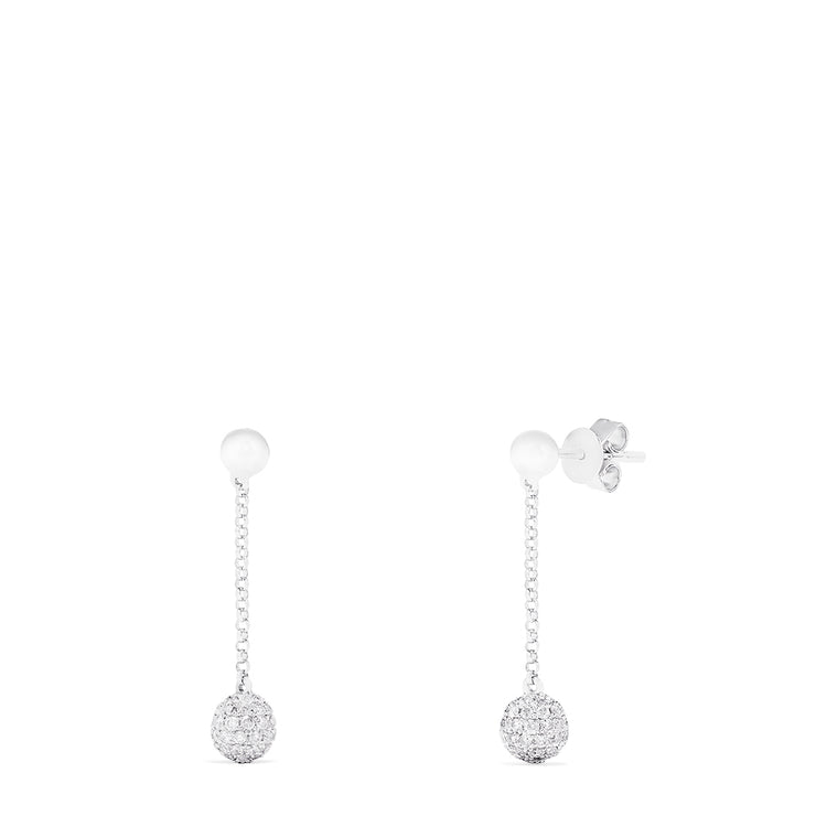 Effy 14K White Gold Diamond Drop Earrings, 0.68 TCW
