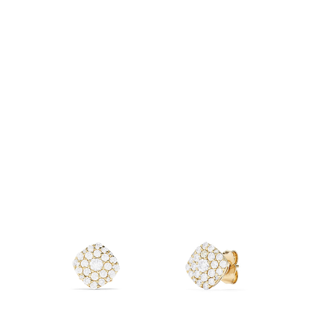Effy D'Oro 14K Yellow Gold Pave Diamond Stud Earrings, 0.88 TCW