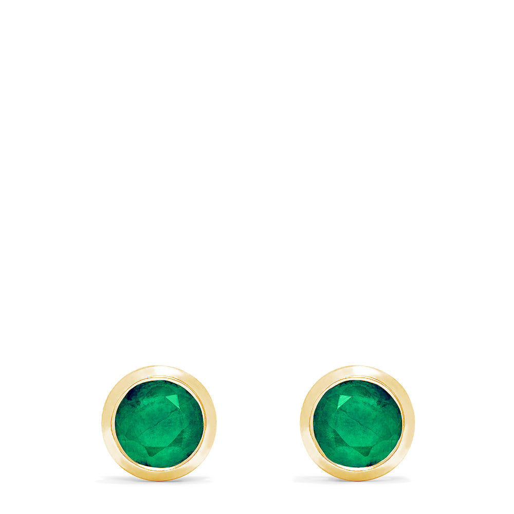 Effy Brasilica 14K Yellow Gold Emerald Stud Earrings, 0.95 TCW
