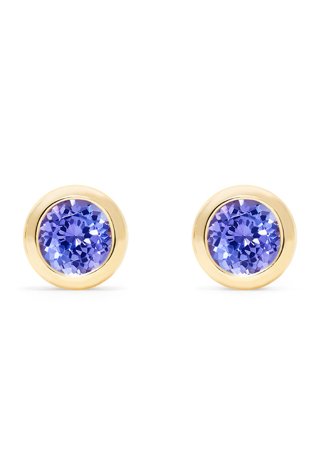 Effy Gemma 14K Yellow Gold Tanzanite Stud Earrings, 0.91 TCW