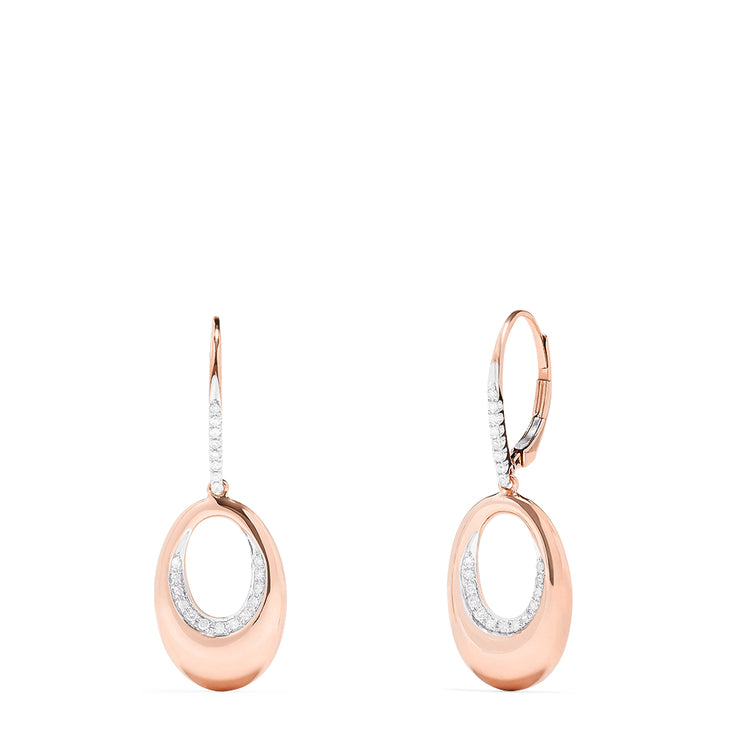 Effy 14K Rose Gold Diamond Accented Earrings, 0.18 TCW