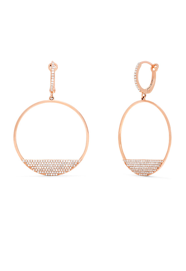 Effy 14K Rose Gold Diamond Earrings, 0.68 TCW