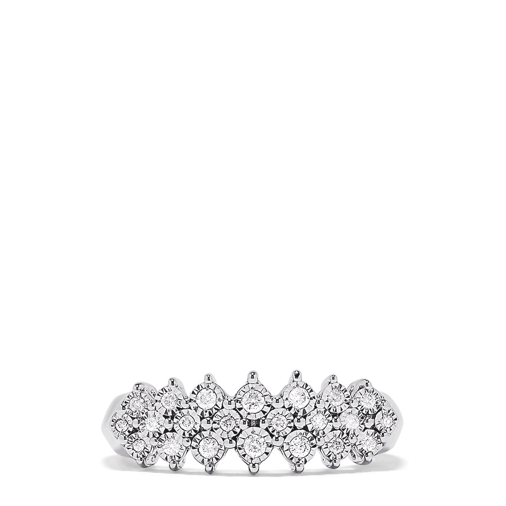 Effy 925 Sterling Silver Diamond Ring, 0.20 TCW