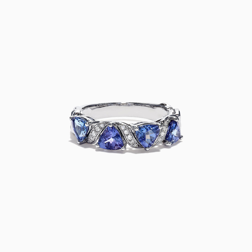 Effy Tanzanite Royale 14K White Gold Tanzanite Diamond Ring, 1.58 TCW