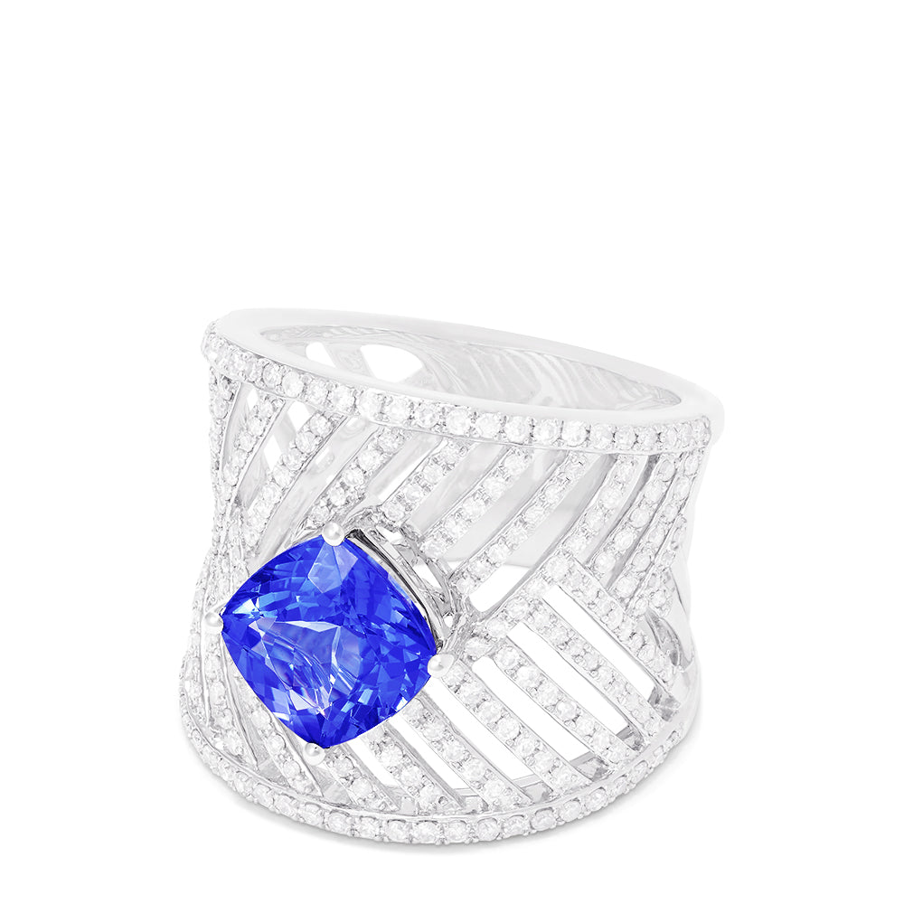 Effy Limited Edition 14K White Gold Tanzanite and Diamond Ring, 3.15 TCW