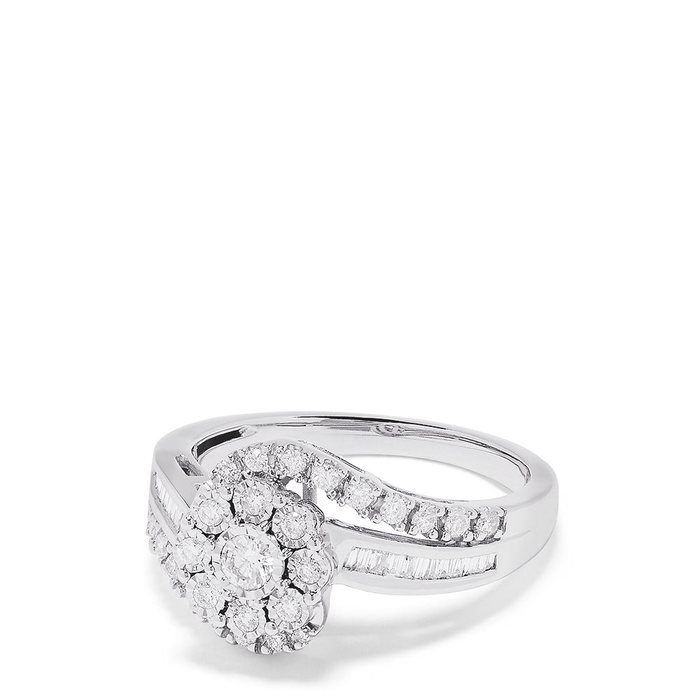 Effy Bouquet 14K White Gold Diamond Twist Ring, 0.48 TCW