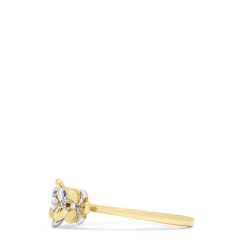 Effy Kidz 14K White and Yellow Gold Diamond Accented Ring, 0.03 TCW