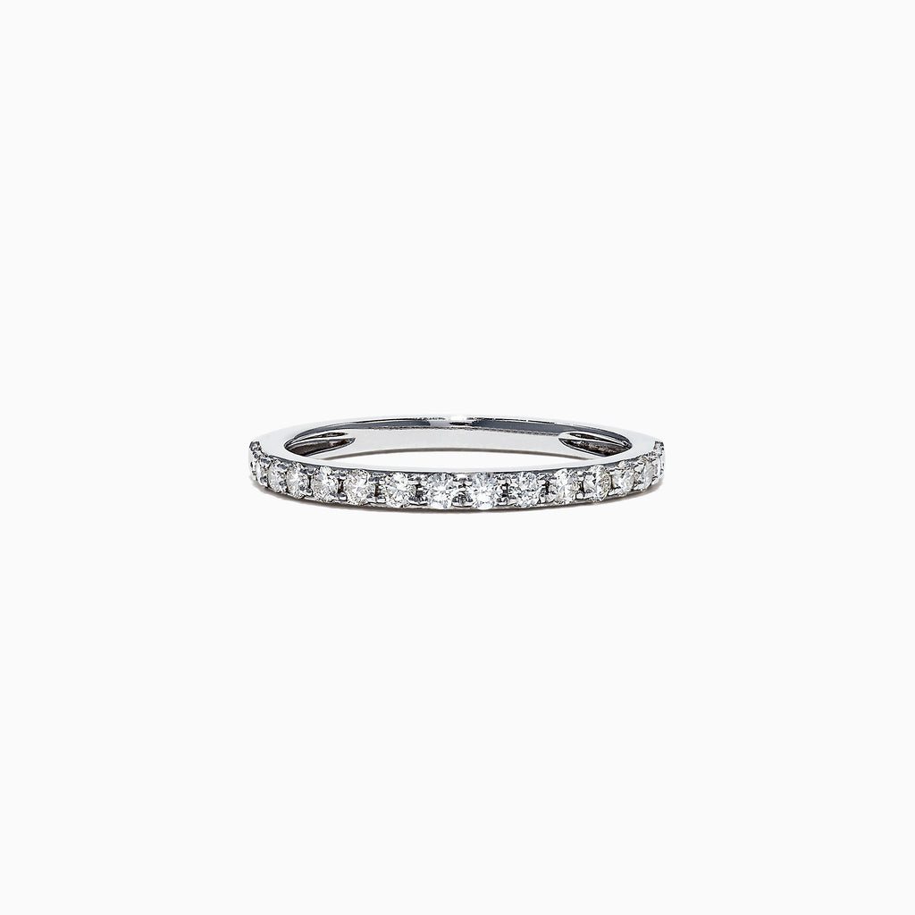 Effy Pave Classica 14K White Gold Diamond Band Ring, 0.34 TCW