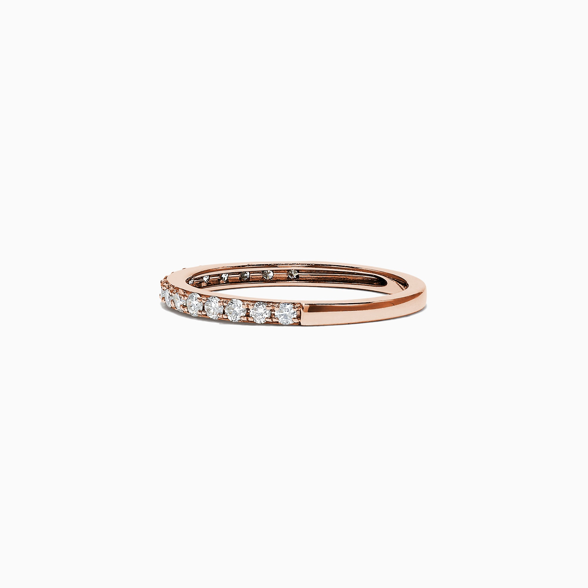 Effy Pave Rose 14K Rose Gold Diamond Band Ring, 0.34 TCW
