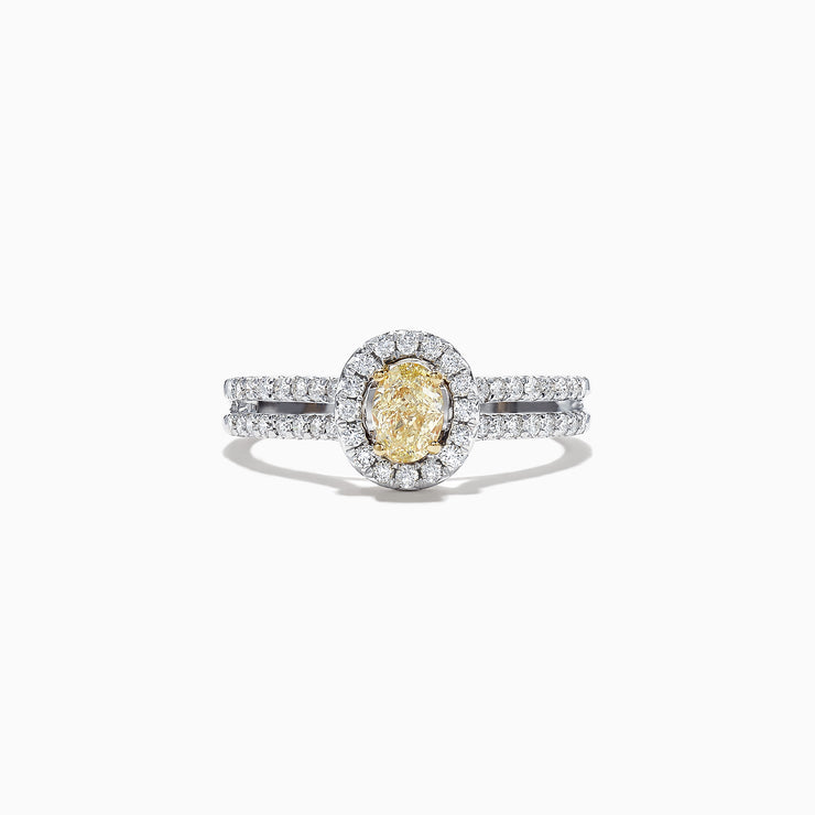 Effy Canare 18K Two-Tone Gold Yellow and White Diamond Ring, 0.71 TCW