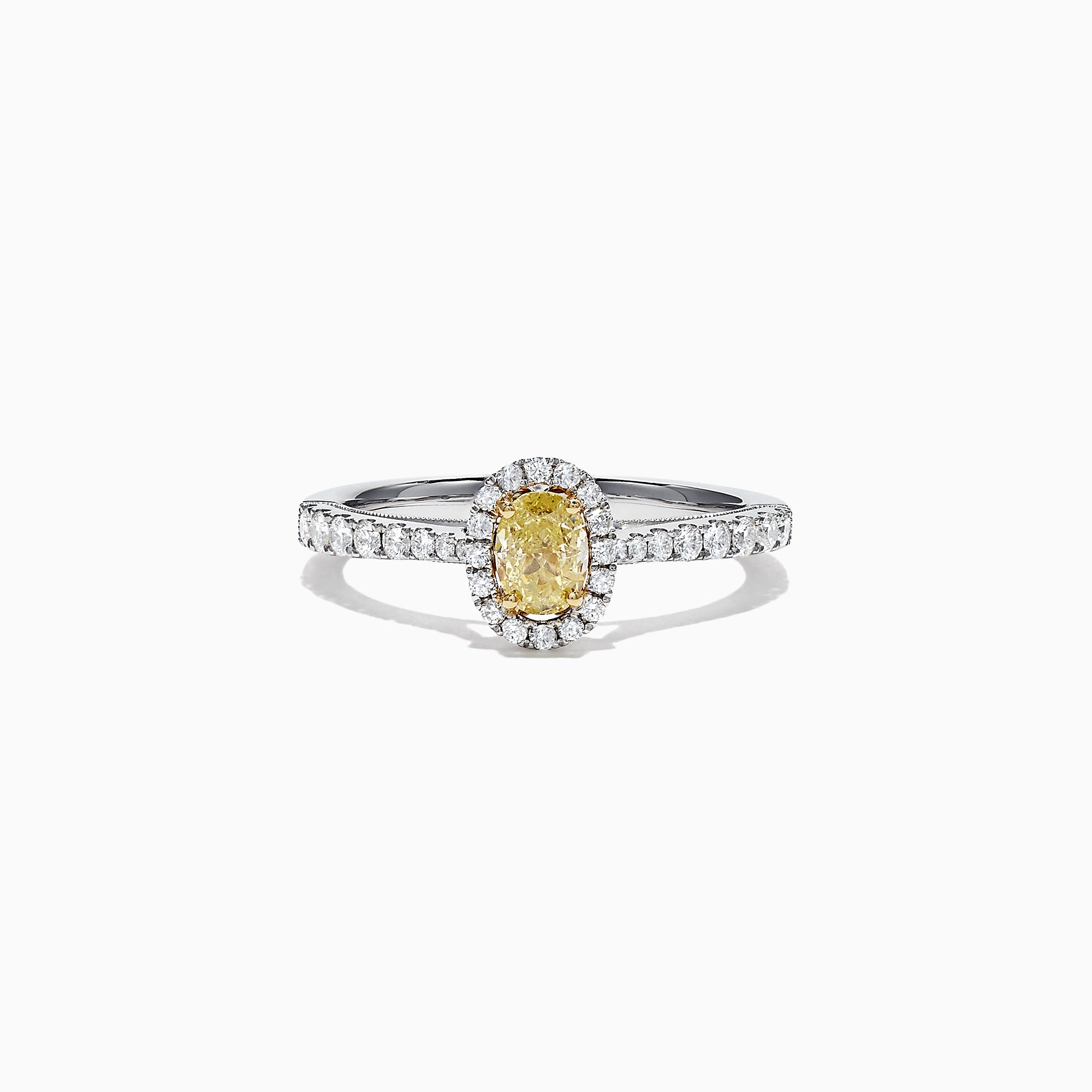 Effy Canare 18K Two-Tone Gold Yellow and White Diamond Ring, 0.79 TCW