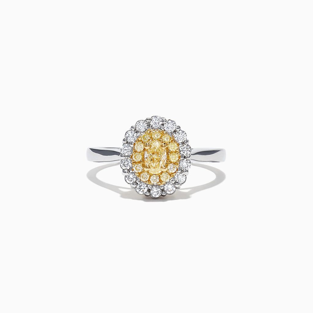 Effy Canare 18K Two-Tone Gold Yellow and White Diamond Ring, 0.65 TCW