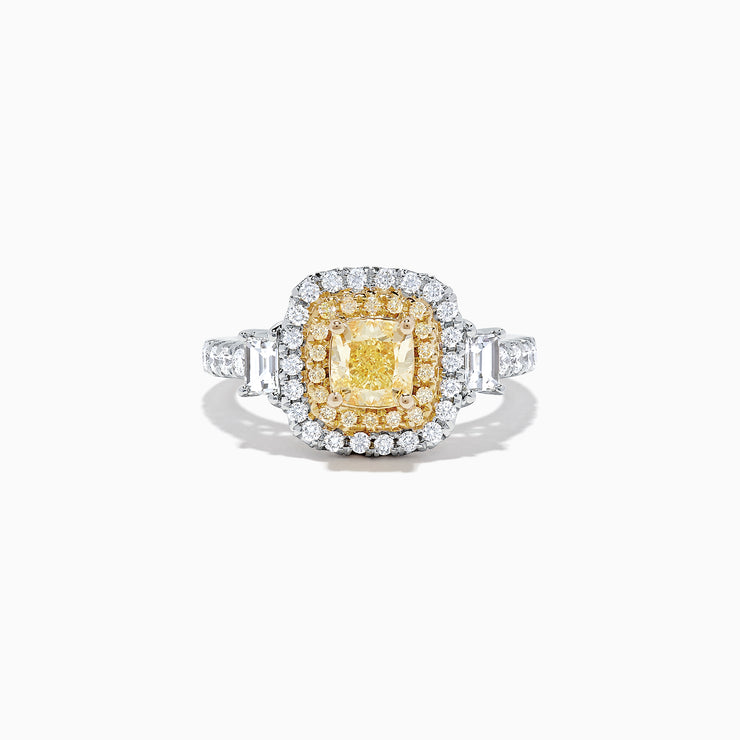 Effy Canare 18K Two-Tone Gold Yellow and White Diamond Ring, 1.98 TCW