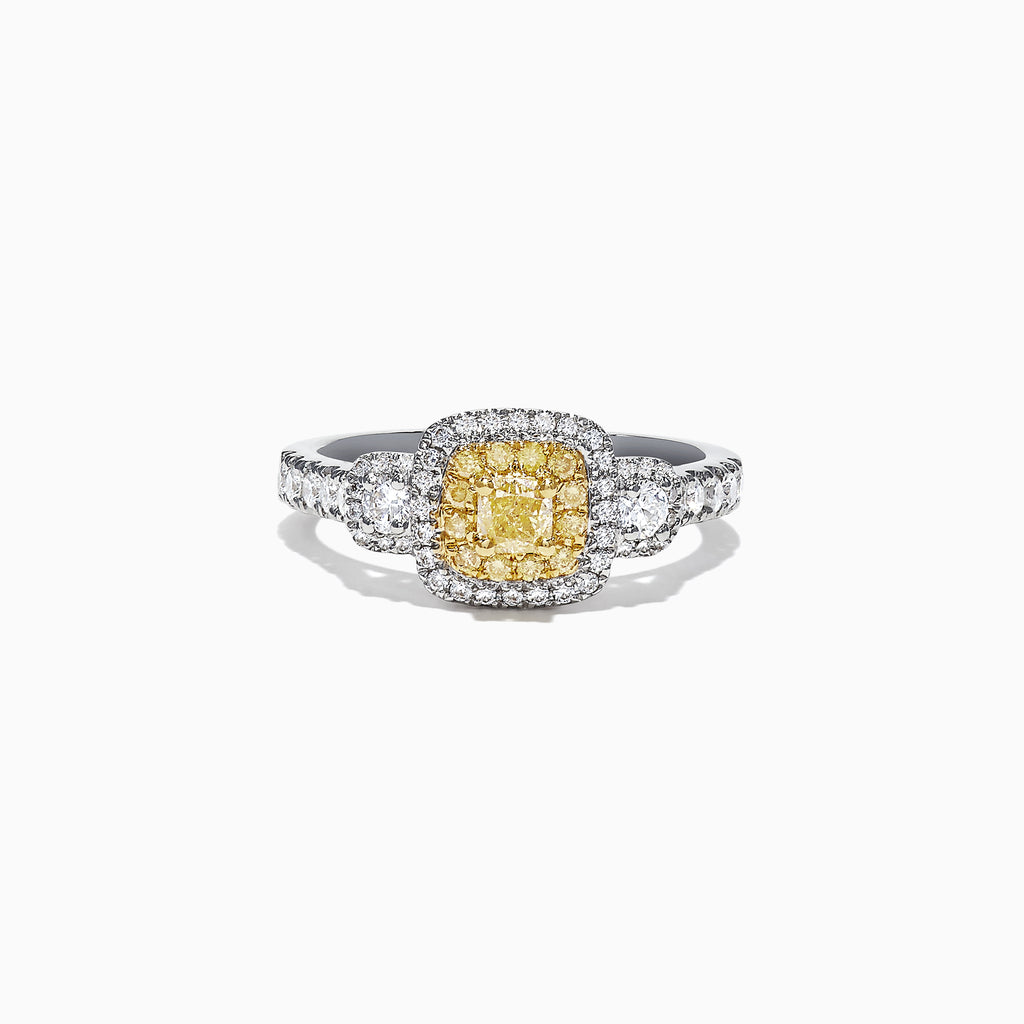 Effy Canare 18K Two-Tone Gold Yellow and White Diamond Ring, 0.96 TCW