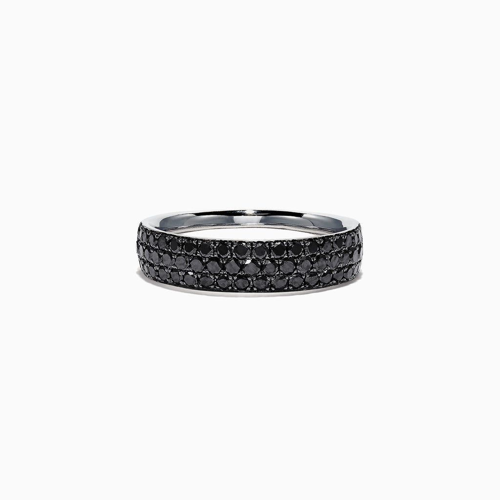 Effy 14K White Gold Black Diamond Band Ring, 0.88 TCW