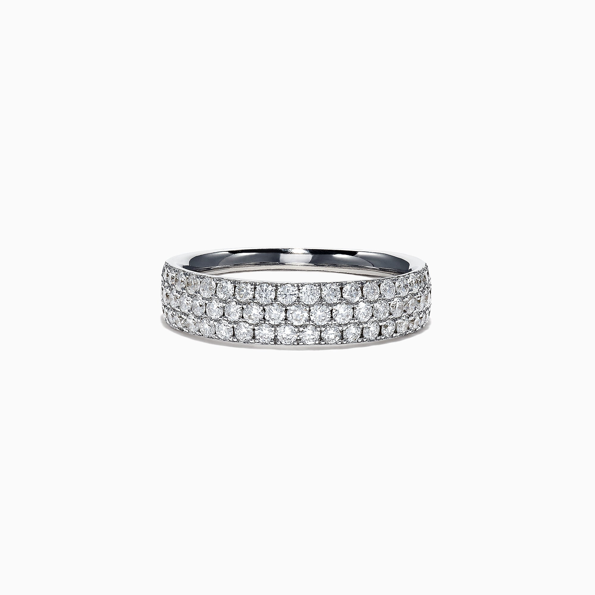 Effy Pave Classica 14K White Gold Diamond Band Ring, 0.84 TCW