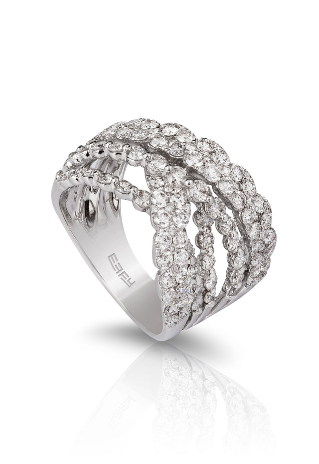 Pave Classica 14K White Gold Diamond Ring, 2.58 TCW