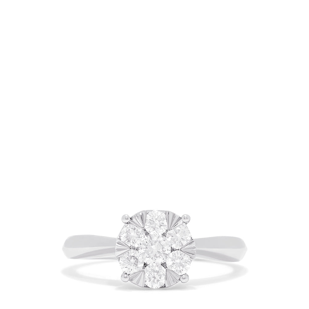 Effy Bouquet 14K White Gold Diamond Cluster Ring, 0.57 TCW