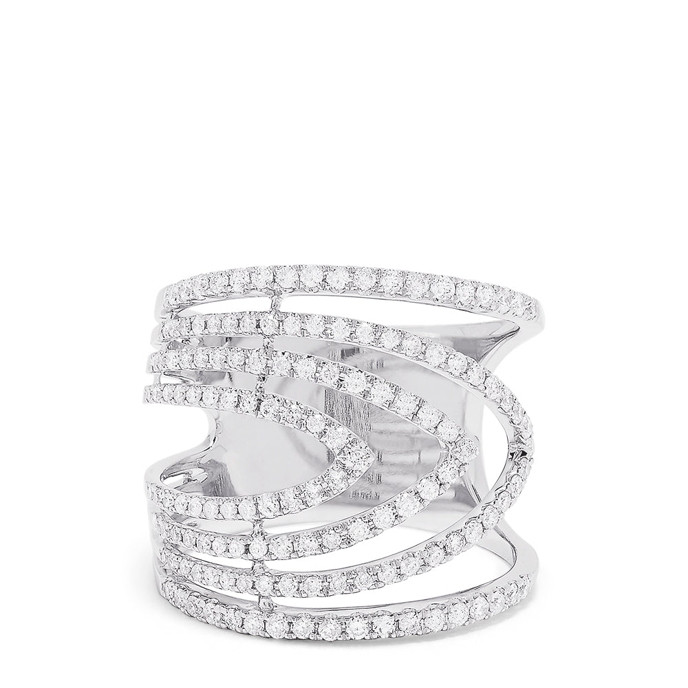 Effy 14K White Gold Diamond Ring, 0.86 TCW