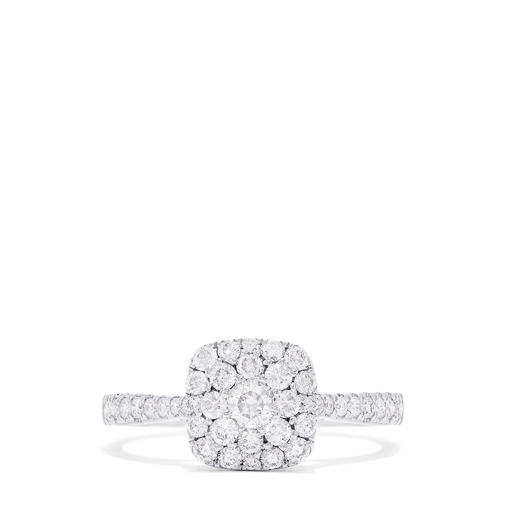 Effy Bouquet 14K White Gold Diamond Cluster Ring, 0.63 TCW