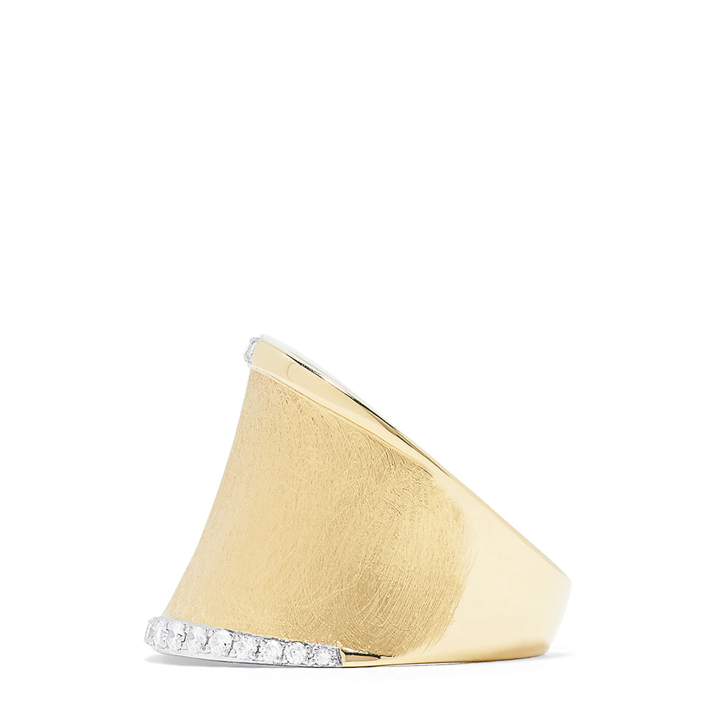 Effy D'Oro 14K Yellow Gold Diamond Accented Ring, 0.27 TCW