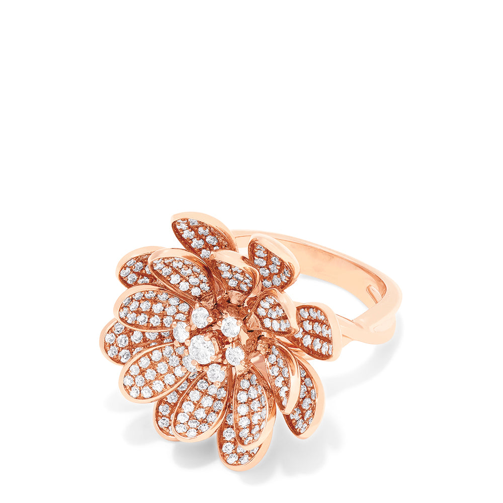 Effy Limited Edition 14K Rose Gold Diamond Moving Petals Ring, 1.73 TCW