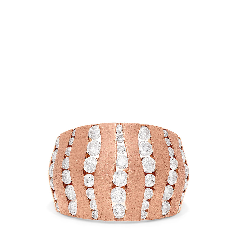 Effy Pave Rose 14K Rose Gold Diamond Ring, 1.68 TCW